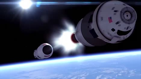 A-Beautiful-Simulated-Rocket-Travels-Through-Earths-Upper-Atmosphere