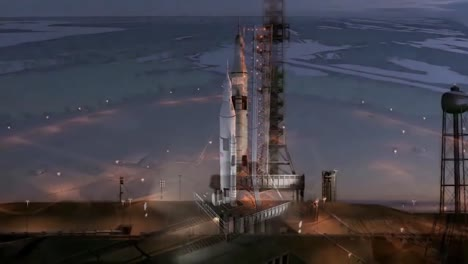 A-Beautiful-Simulated-Rocket-Liftoff-From-Launchpad
