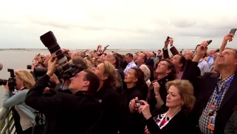 Spectators-Watch-The-Liftoff-Launch-Of-A-Rocket