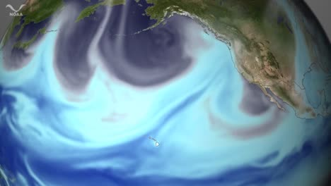A-River-Of-Atmospheric-Moisture-Moves-Across-The-Pacific-Ocean-Towards-The-West-Coast-Of-The-Us