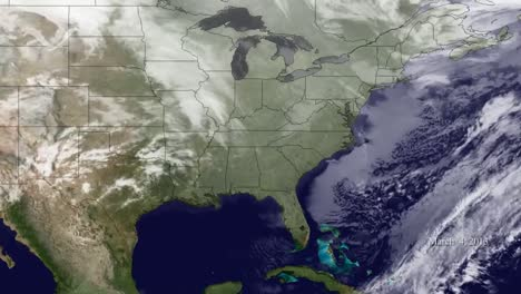 A-Weather-Map-Shows-Various-Storms-Passing-The-East-Coast-Of-The-Us-1