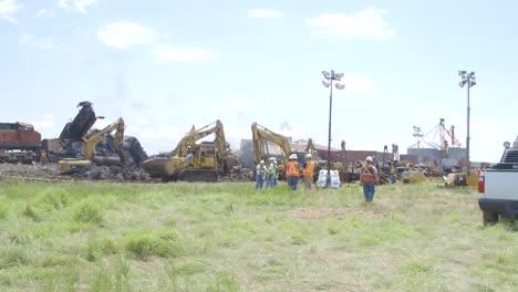 Las-Secuelas-De-Una-Colisión-Frontal-Entre-Dos-Trenes-De-Carga-En-Texas-En-2016-2