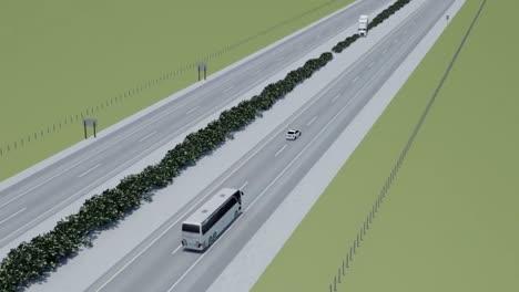 Visualización-Animada-De-Una-Colisión-De-Camión-De-Autobús-En-Una-Carretera-Principal-2