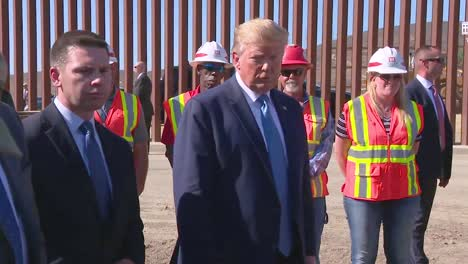 Us-President-Donald-Trump-Speaks-To-The-Press-From-The-Us-Mexico-Border-Wall-About-Homeless-Crisis-In-Los-Angeles-And-San-Francisco