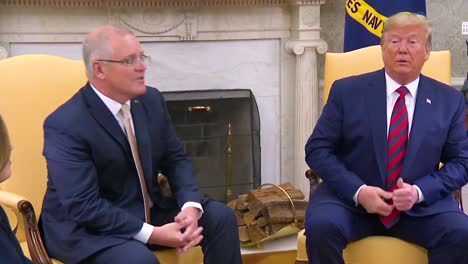 President-Donald-Trump-Sits-With-Australian-Prime-Minister-And-Discusses-The-Special-Relationship-Between-The-United-States-And-Australia