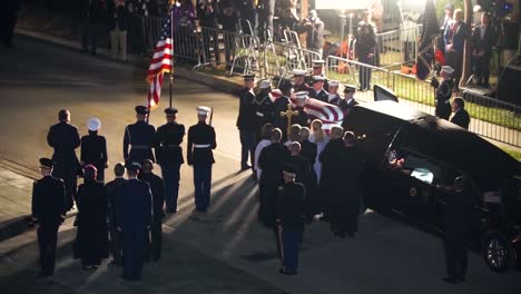 George-Hw-Bush-41St-President-Of-The-United-States-Funeral-Church-Of-St-Martins-Casket-Arrival