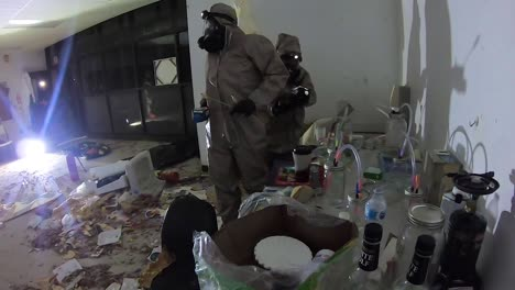 A-Chemical-Spill-Or-Poison-Gas-Attack-Hazmat-Simulation-Is-Conducted-By-Us-Army-Personnel
