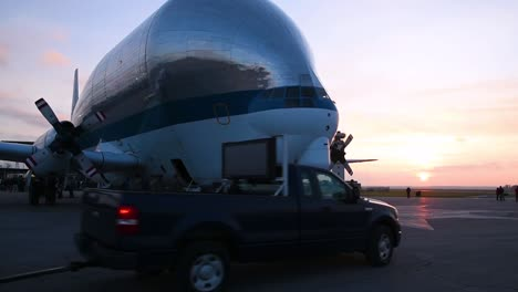 Nasas-Aero-Spacelines-Super-Guppy-Parked-At-Mansfieldlahm-Regional-Airport-Ohio-While-Transporting-The-Orion-Space-Capsule