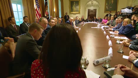 Us-President-Donald-Trump-Hosts-A-Large-Round-Table-Meeting-Of-Officials-At-The-White-House-1