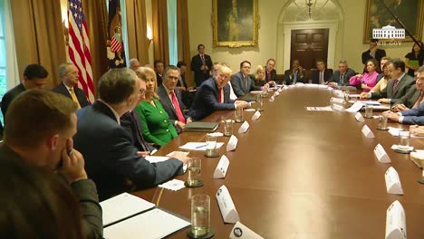 Us-President-Donald-Trump-Hosts-A-Large-Round-Table-Meeting-Of-Officials-At-The-White-House-2