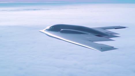 Luftaufnahmen-Eines-US-B2-Tarnkappenbombers-Vom-509-Bombenflügel-Auf-Der-Whiteman-Air-Force-Base-Missouri-Im-Flug