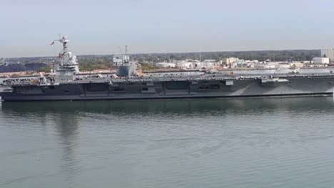 Aerial-Over-The-Uss-Gerald-Ford-Underway-At-Sea-Near-Newport-News-Virginia