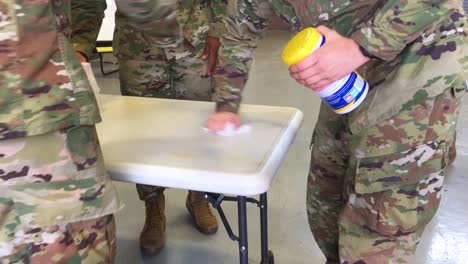 Us-Army-Personnel-Practice-Cleaning-And-Sanitizing-Surfaces-During-Covid19-Coronavirus-Outbreak-Epidemic