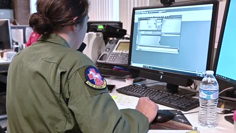 West-Virginia-National-Guard-Answer-Phones-At-A-Call-Center-Dedicated-To-Handling-The-Outbreak-Of-Coronavirus-Covid19