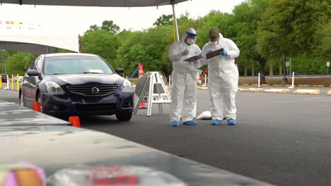 Covid19-Coronavirus-Patients-Are-Tested-At-A-Drive-Thru-Clinic-In-Pennsylvania-7