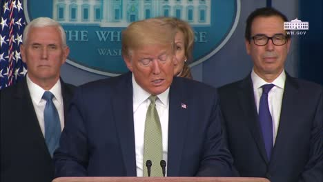 President-Donald-Trump-Addresses-The-Covid19-Coronavirus-Crisis-Saying-The-Government-Is-Urging-People-To-Stay-Home-For-Two-Weeks
