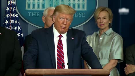 President-Trump-Remarks-On-The-Effectiveness-Of-Chloroquine-To-Combat-Sars-But-Is-Immediate-Contradicted-By-Immunologist-Dr-Anthony-Fauci-Of-The-Coronavirus-Task-Force