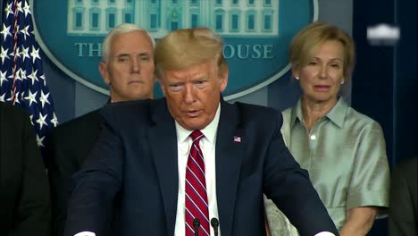 President-Donald-Trump-Is-Asked-By-Nbc-News-Reporter-Peter-Alexander-What-He-Says-To-People-Who-Are-Scared-About-The-Coronavirus-And-The-President-Responds-That-He-Is-A-Terrible-Reporter