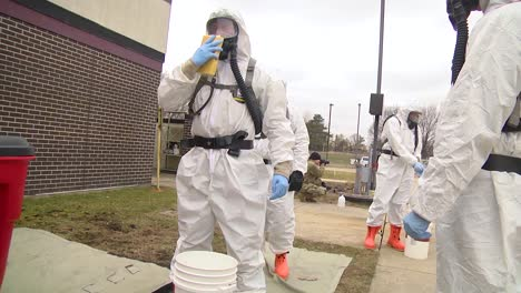 Wisconsin-National-Guard-Soldiers-And-Airmen-Conduct-Decontamination-Training-In-Preparation-For-Possible-Covid19-Corona-Virus-Response