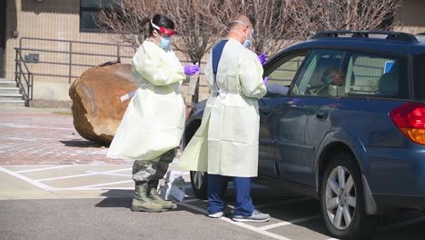 Covid19-Coronavirus-Patients-Are-Tested-At-A-Drive-Thru-Clinic-In-Pennsylvania-8