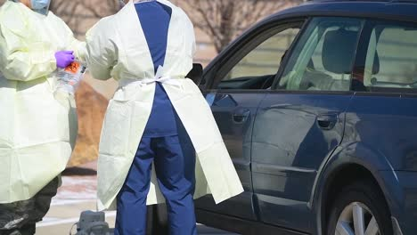 Covid19-Coronavirus-Patients-Are-Tested-At-A-Drive-Thru-Clinic-In-Pennsylvania-9