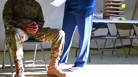 Covid19-Coronavirus-Patients-Army-Soldiers-Are-Tested-At-A-Military-Base-During-The-Outbreak-Epidemic