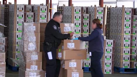 Customs-And-Border-Patrol-Agents-Inspect-Cargo-At-The-Us-Mexico-Border-Customs-Area-Commercial-Inspection-Facility-In-Nogales-Arizona