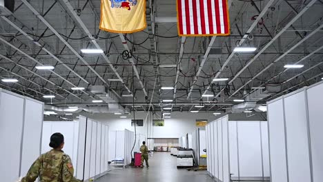 New-Jersey-National-Guard-Soldiers-Assist-With-The-Set-Up-Of-A-Federal-Medical-Station-At-The-Meadowlands-Exposition-Center-During-The-Coronavirus-Covid19-Pandemic-Outbreak