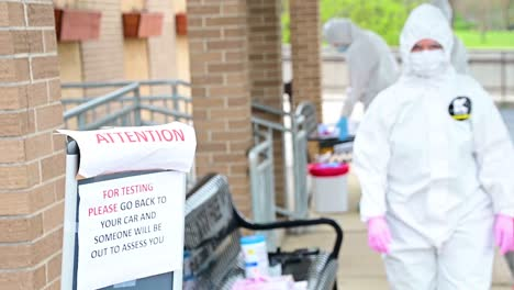 Covid19-Coronavirus-Patients-Are-Tested-At-A-Drive-Thru-Clinic-By-National-Guard-Of-Tennessee-7