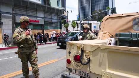 2020-California-National-Guard-Provide-Security-During-The-Demonstrations-In-Los-Angeles-Over-George-Floyd-Killing