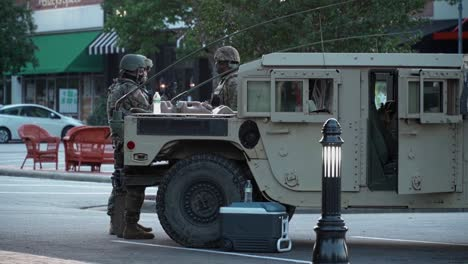 National-Guard-Troops-Oversee-Civil-Unrest-In-Raleigh-North-Carolina-During-The-George-Floyd-Black-Lives-Matter-Protests
