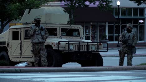 National-Guard-Troops-Oversee-Civil-Unrest-In-Raleigh-North-Carolina-During-The-George-Floyd-Black-Lives-Matter-Protests-2