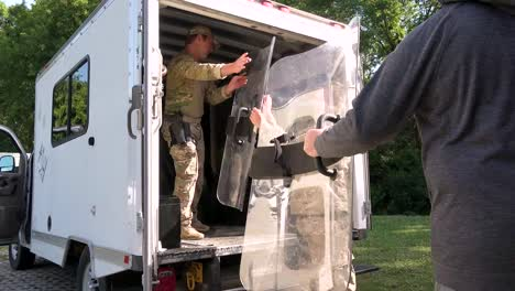 Georgia-National-Guard-Load-Into-An-Unmarked-Van-In-Atlanta-Georgia-And-Head-Out-To-Oversee-During-The-George-Floyd-Black-Lives-Matter-Protests