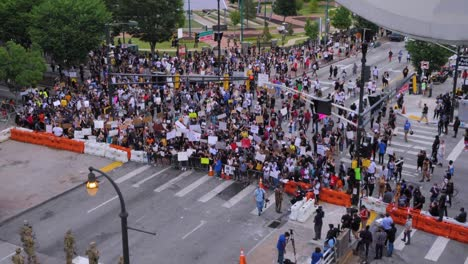 Massive-Street-Civil-Unrest-Protests-Break-Out-In-Atlanta-During-The-George-Floyd-Black-Lives-Matter-Protests