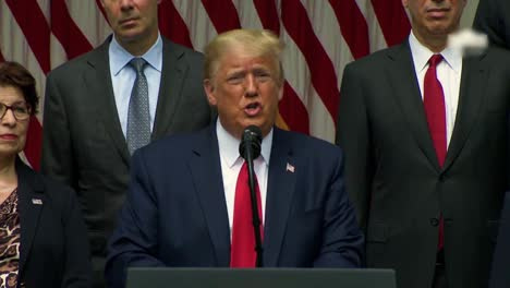 Us-President-Donald-Trump-Press-Statement-Regarding-George-Floyd-Black-Lives-Matter-Protests-Says-Law-Enforcement-Must-Dominate-The-Streets