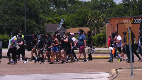 Civil-Unrest-Blm-Black-Lives-Matter-March-In-A-Small-Town-Of-Baytown-Texas