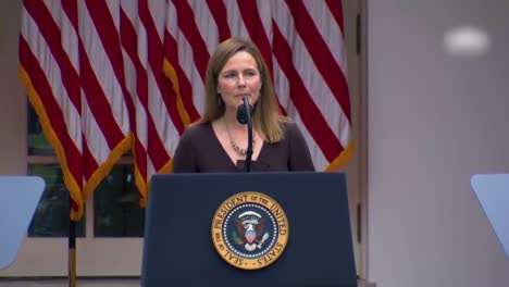 Supreme-Court-Justice-Nominee-Amy-Coney-Barrett-Speaks-In-The-White-House-Rose-Garden-Which-Became-A-Covid-19-Coronavirus-Superspreader-Event-1