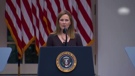 Supreme-Court-Justice-Nominee-Amy-Coney-Barrett-Speaks-In-The-White-House-Rose-Garden-Which-Became-A-Covid-19-Coronavirus-Superspreader-Event-2