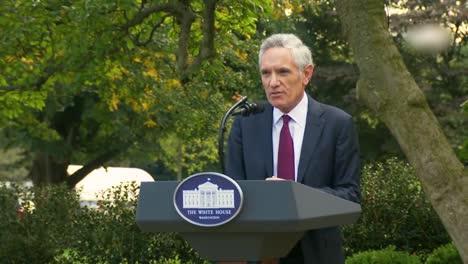 2020-Dr-Scott-Atlas-President-Trump-White-House-Advisor-Talks-In-The-White-House-Rose-Garden-About-The-Covid-19-Coronavirus-Epidemic