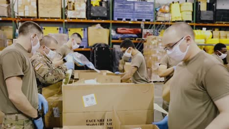 New-York-National-Guard-Soldiers-Assemble-Covid19-Testing-Kits-For-Nursing-Homes-In-New-York-State