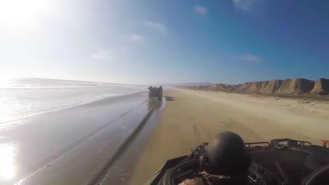 Us-Marines-Practice-An-Assault-Amphibious-Vehicle-Landing-At-Red-Beach-Camp-Pendleton-California-2