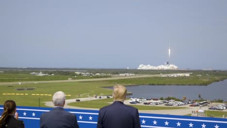 President-Trump-At-the-Kennedy-Space-Center-And-the-Spacex-Manned-Demo-2-Mission