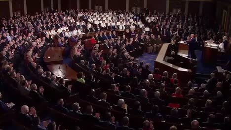 President-Trump-Delivers-A-Compilation-Of-Moments-Before-During-And-After-the-State-Of-the-Union-Address