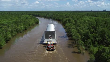 Nasa-the-First-Core-Stage-Being-Shipped-From-New-Orleans-To-the-Stennis-Espacio-Center-Using-the-Intracoastal-Waterway