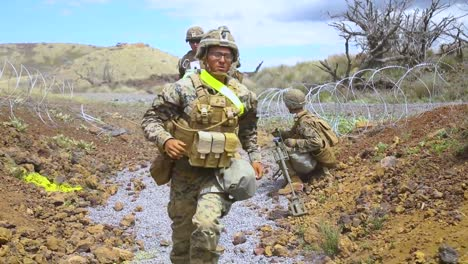 Us-Marines-With-the-3Rd-Marine-Regiment-Conduct-A-Platoon-Supported-Attack-At-Pohakuloa-Training-Area-Hawaii
