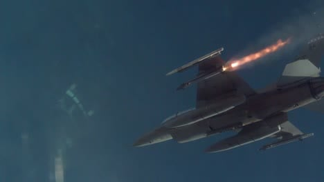 An-Aim9X-Sidewinder-Missile-Fired-By-An-Air-Force-F16-Fighting-Falcon-At-Holloman-Air-Force-Base-New-Mexico