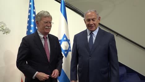 Us-National-Security-Advisor-John-Bolton-Meets-Isreali-Prime-Minister-Benjamin-Netanyahu-In-Jerusalem-Isreal