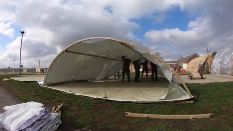 Timelapse-National-Guard-Setting-Up-A-Drbs-Or-Disaster-Relief-Beddown-System-During-Covid19-Relief-Efforts