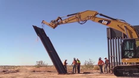 Construction-Of-the-Yuma-2-Border-Barrier-Near-Yuma-Arizona