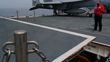Sailors-On-the-Uss-Gerald-R-Ford-Load-Mk82-500-Lb-Inert-Bombs-And-Other-Ordnance-Onto-F/A-18-E-Super-Hornets-1
